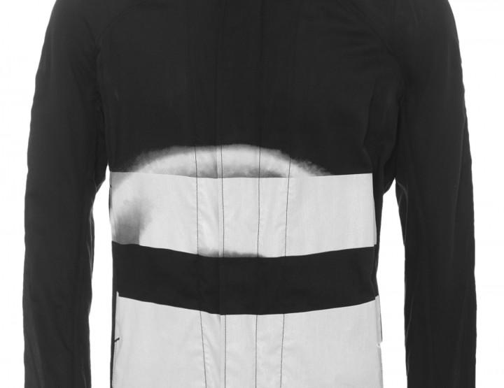 Dünne Blousonjacke - schwarz/weiß