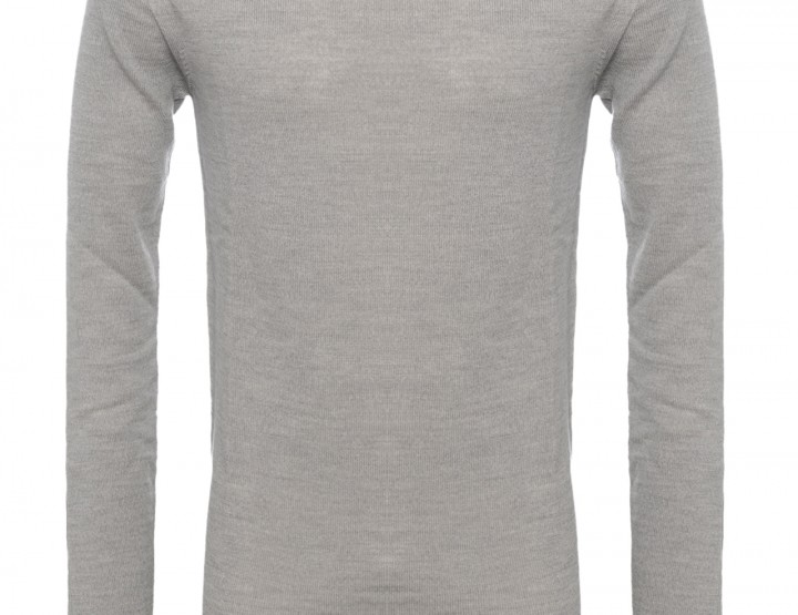 Stand up collar pullover - light grey