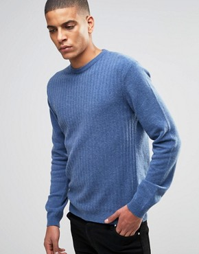 ASOS - Slightly ribbed pullover with high share of lambswool - brownish grey
