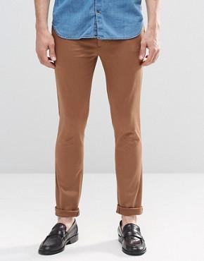 ASOS - Supertight cotton-satin trousers medium khaki - Ermin
