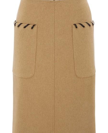 Loro Piana wool cloth skirt