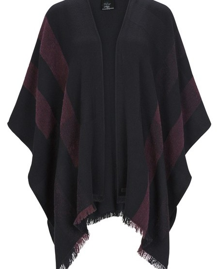 Soft wool-flanell poncho