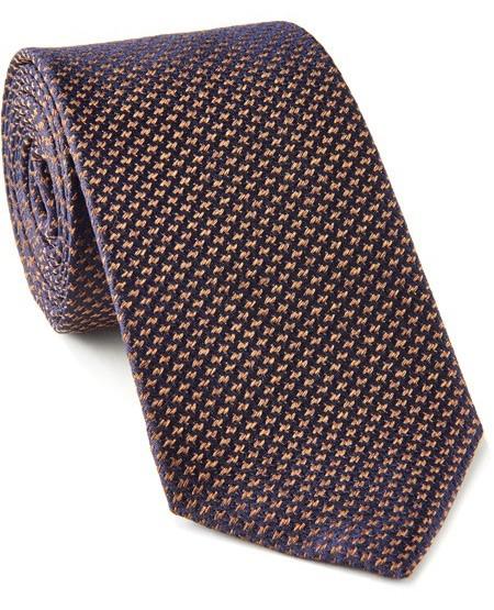 Two-coloured pure silk tie