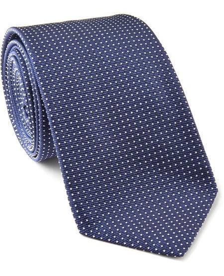 Krawatte aus Seiden-Mix mit Punkte-Design
