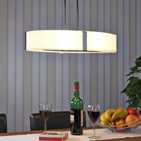 Oval hanging lamp Milena, height-adjustable