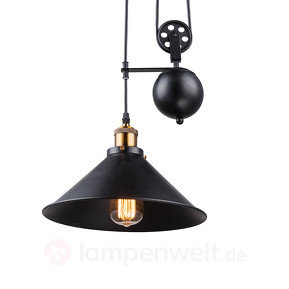 1-flame hanging lamp Viktor - height-adjustable