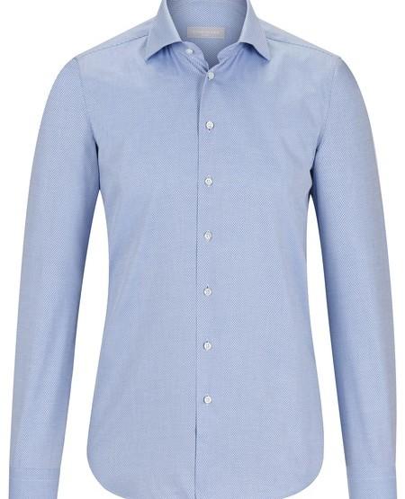 Slim-Fit-Herrenhemd mit dezentem Dessin