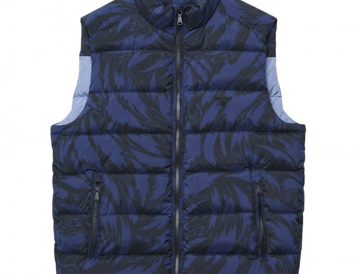 GANT down vest (M) - blue