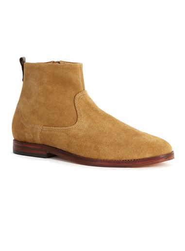 Gelbhudson suede leather boots with zipper - beige