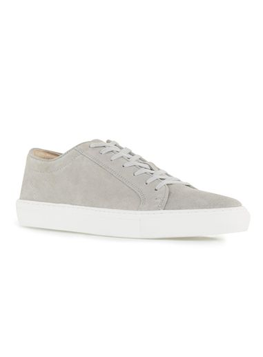 Suede leather sneakers - grey
