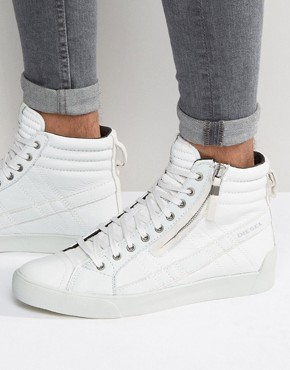 Diesel - D-String - Leather sneakers - White