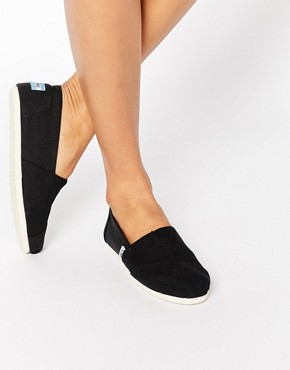 TOMS - Classic flat fabric shoes - black