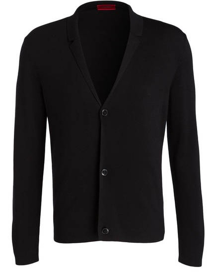 HUGO Strickjacke SUTON im Sakkostil Regular-Fit