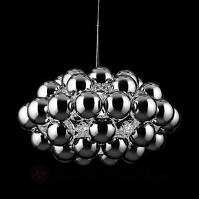 Chromfarbene Designer-Hängeleuchte Beads Octo