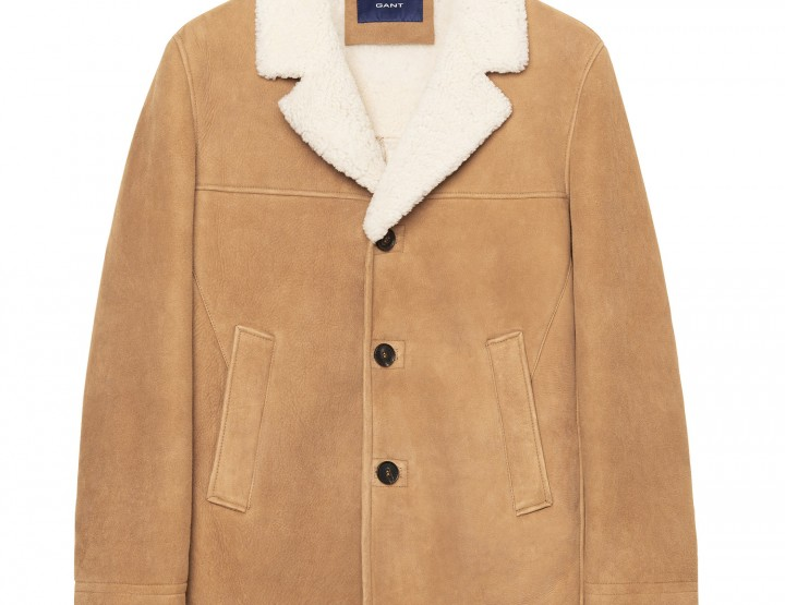 GANT Jacket Shearling Breezer (L) Marrone