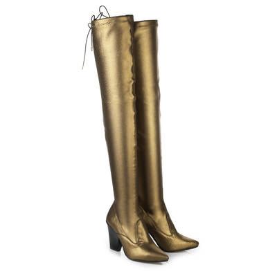 Overknee Stiefel in bronze