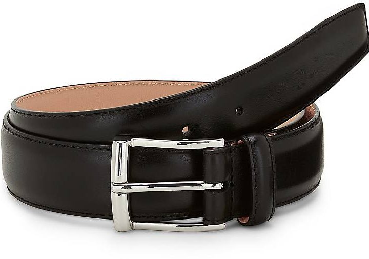 Crockett & Jones Men's leather belt - black
