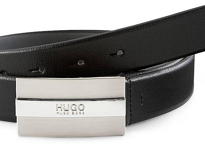 Leder Gürtel BAXTER von HUGO in schwarz für Herren