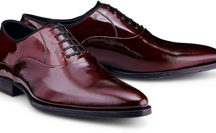 Ludwig Görtz oxford lace shoe - bordeaux