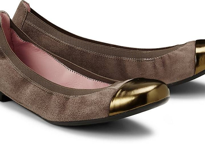 Pretty Ballerinas Damen Stretch-Ballerina - taupe