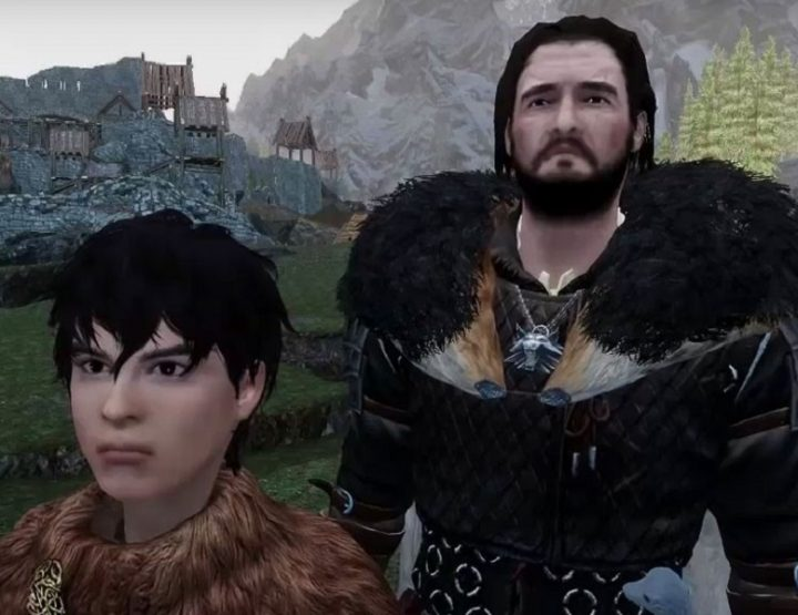 Game of Thrones Trailer in Skyrim nachgestellt