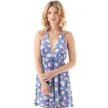 Urban Beach Damen Laguna Beach Halterneck Kleid Blau