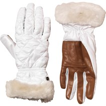 UGG Australia Womens Slim Fit Quilted Fabric Smart Glove White