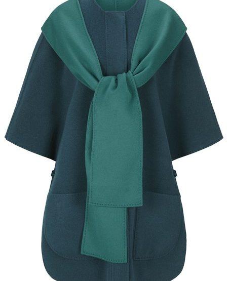 Doubleface cashmere blend cape