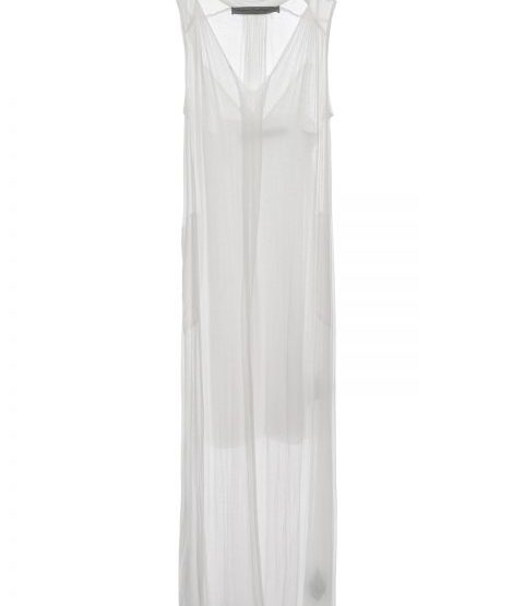 Transparentes Double Layer Kleid - weiß
