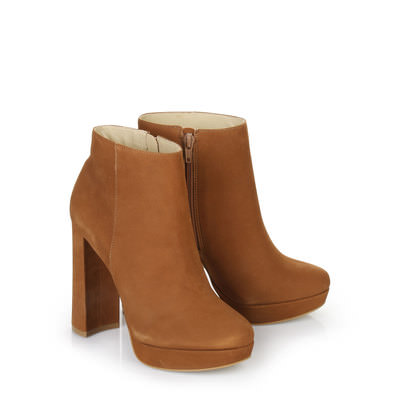 Plateau ankle boot - rust