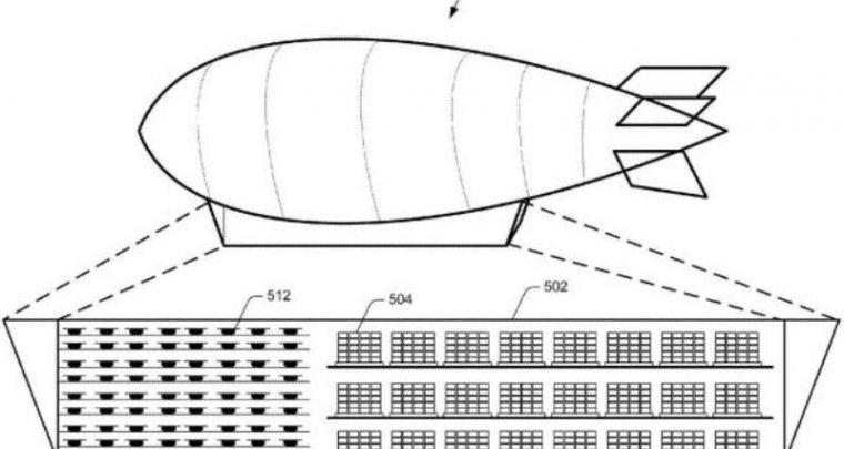Tarnimine õhulaevast - Amazon plaanib lendavat pakendiladu