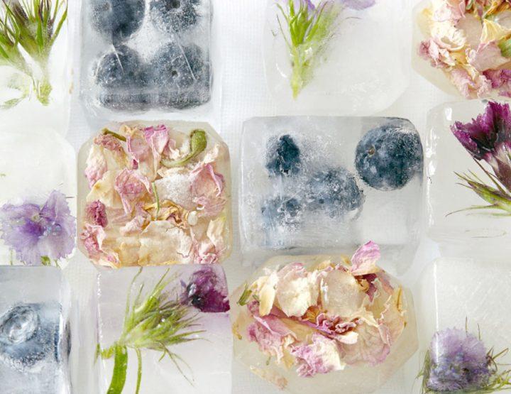Cubi di bellezza: cubi di ghiaccio contr'à a pelle macellata