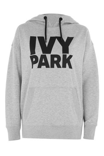 Boyfriend-Kapuzenpulli mit Logo von Ivy Park - Light Grey M