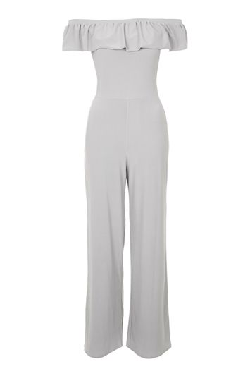 Frill Jumpsuit by Love - Grau