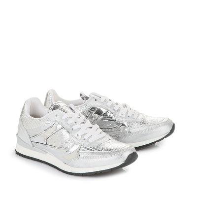 Sneaker in silber