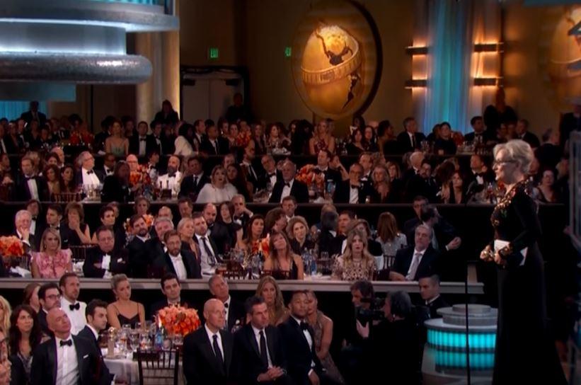 Meryl Streep während ihrer Rede zu der Golden Globe Verleihung 2017