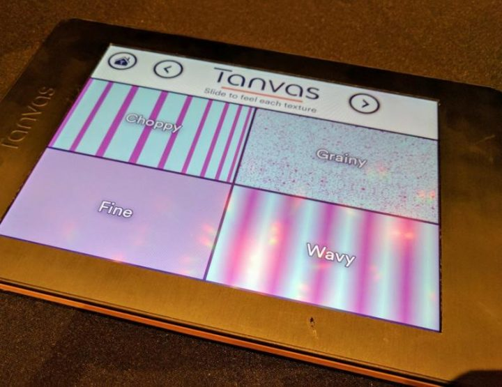Tanvastouch - display touch cù a superficie tattile