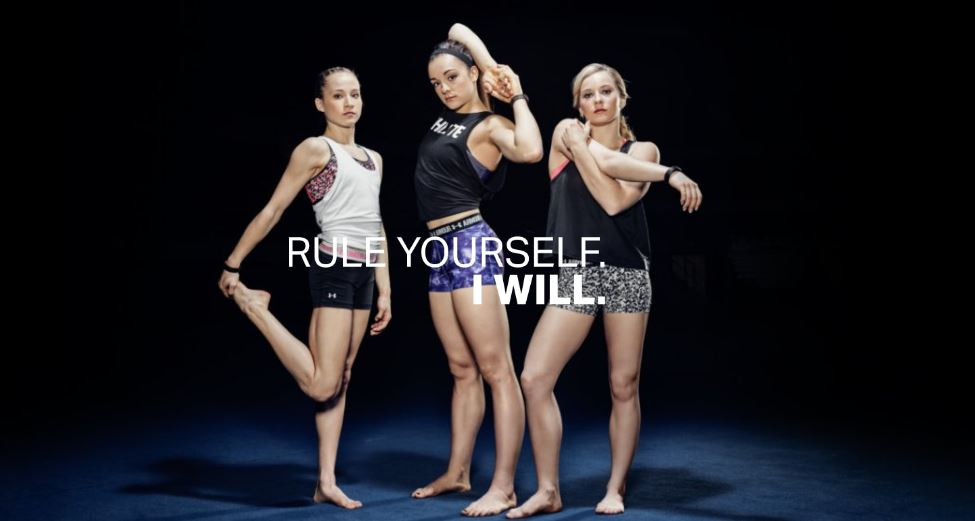 Under Armour featuring the American Female Gymnastics Team