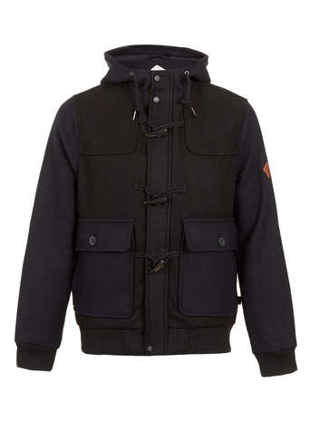 Bellfield Miko Navy And Black Bomber Jacket