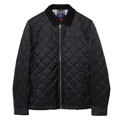 GANT quilted windcheater jacket- black