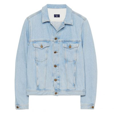 GANT Denim-Jacke in Washed-Optik - Blau