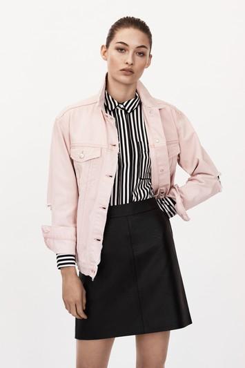 MOTO Oversized Pink Jacket