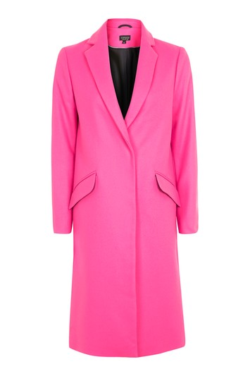 Wool coat tall - neon pink
