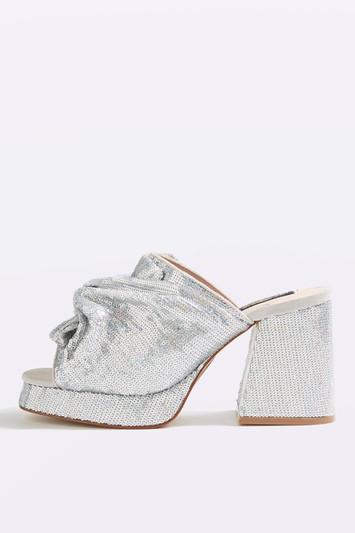 DAPHNE Pantoletten - Silber