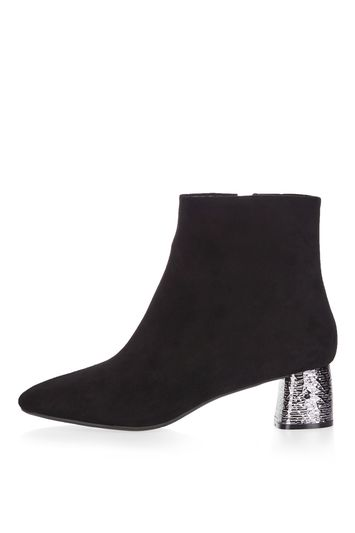 Heeled ankle boot bumble - black