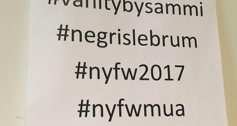 Franziska Czurratis auf der New York Fashion Week F/W 2017 Show von Negris Lebrum