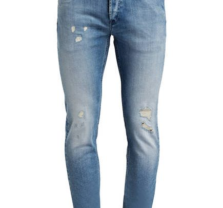DENHAM DESTROYED-JEANS BOLT SKINNY-FIT