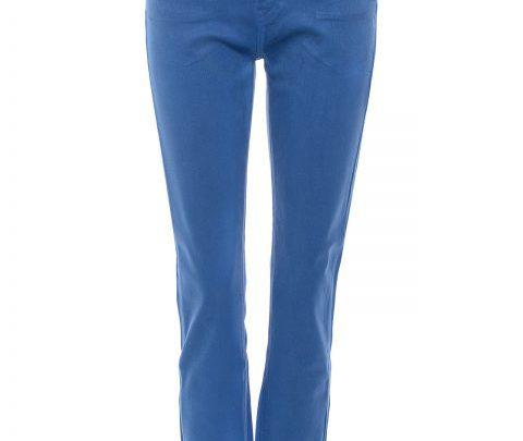 Gewachste Slim Fit Jeans azurblau