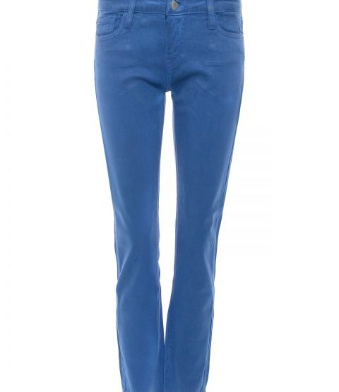 Waxed slim fit jeans - azure