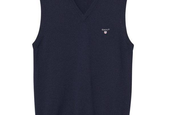 GANT Lambswool Sweat Vest - Blu